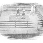 Two Hosts in the Boxing Ring