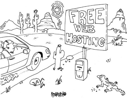 Cartoon about Finding Free Web Hosting