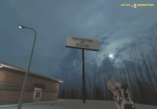 In-Game Ad for GH1 Web Hosting in Half Life 2