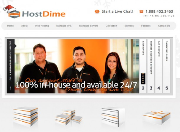 HostDime Screen Shot