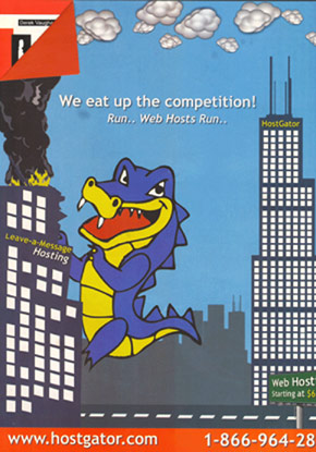 HostGator Ad from PingZine