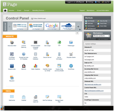 iPage Panel